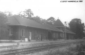 Hammond Louisiana Depot Train Station Real Photo Vintage Postcard JF685991