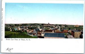 Tilton, New Hampshire Postcard Bird's-Eye Panorama Town View w/ 1908 Cancel