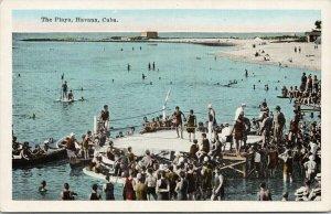 Havana Cuba The Playa Beach Marianao Unused Kropp Postcard E89