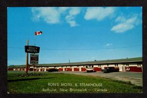 NB Ron's Motel Restaurant Bathurst New Brunswick Canada Postcard Carte Postale