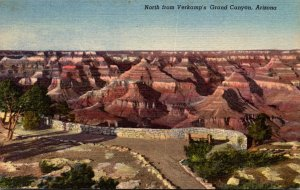 Arizona Grand Canyon National Park Looking North From Verkamp's 1953 Cur...