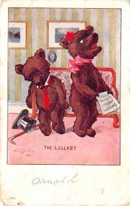 Bear Post Card Old Vintage Antique Romantic Bears Series 88 1922