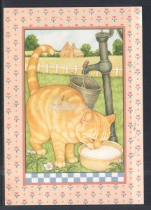 Cat Drinking Milk BIN