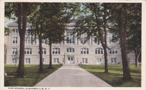GLOVERSVILLE, New York, PU-1921; High School
