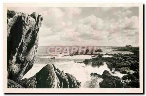 Old Postcard St Guenole Penmarch Finistere Wild Coast