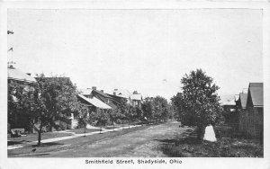 F53/ Shadyside Ohio Postcard c1930s Smithfield Street Homes