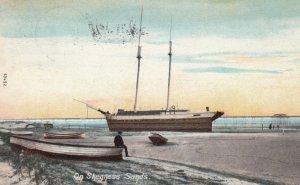 SKEGNESS , Lincolnshire , England , UK , 1906 ; Ship on sands