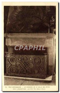 Old Postcard Hochk?nigsburg The Chimney De La Salle Des Fetes