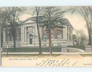 Pre-1907 LIBRARY Utica New York NY A3238