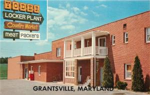Grantsville Maryland~Yoder Locker Plant Country Market~Coke Machine~1960s PC
