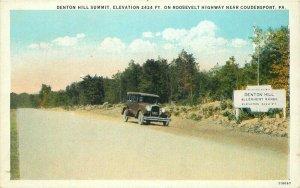 Automobiles Denton Hill Coudersport Pennsylvania 1920s Postcard Teich 10625