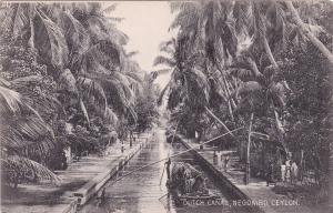 NEGOMBO, Ceylon (Sri Lanka) 1900-10s; Dutch Canal