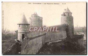Old Postcard Fougeres Les Tours du Ohateau