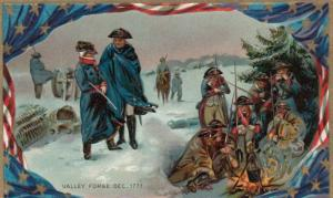 VALLEY FORGE , Pennsylvania, 1900-10s ; Troops at Valley Forge 1777; TUCK # 159