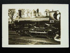 G.N.R. Great Northern Railway STEAM LOCOMOTIVE 'lll' Class No.374 RP Postcard