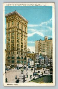 Dayton OH-Ohio, View From Courthouse, Skyscrapers, Vintage c1922 Postcard