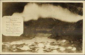 Aurora Borealis Electric Lit - Dawson Yukon c1920s-30s Real Photo Postcard