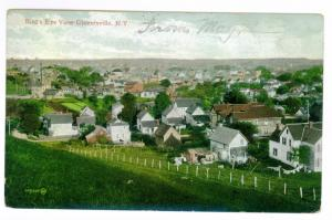 Pine Lake to Gloversville, New York 1908 used Postcard, Bird's Eye View