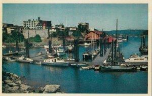 NANAIMO , British Columbia, Canada, 50-60s; Small Craft in Harbor