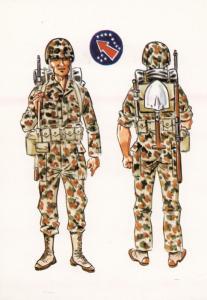 Italian WW2 Army Uniform Soldaro Con Traje Combate Jungla Postcard