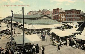 c1910 Printed Postcard; Lexington Market, Baltimore MD unposted