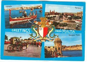 Greetings from Malta, unused Postcard