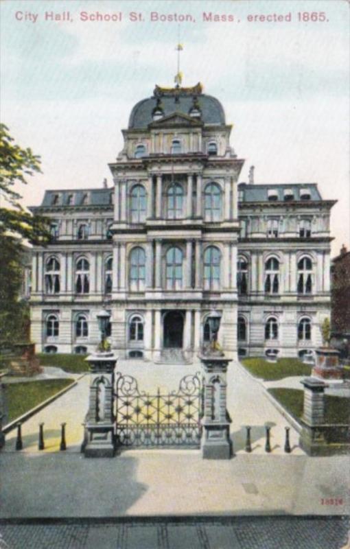 Massachusetts Boston City Hall 1909