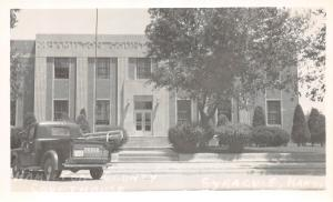Kansas Ks Postcard Real Photo RPPC c1950 SYRACUSE Hamilton County Court House