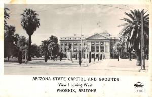 Phoenix Arizona State Capitol Grounds Frasher Real Photo Antique Postcard K19105