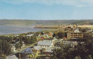 Aerial view, Bagotville, Quebec,  Canada,  40-60s