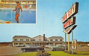 Brewer ME Twin City Motel & Restaurant Located at 453 Wilson Street Postcard