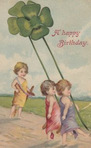 A Happy Birthday , Kids with giant shamrocks , 00-10s
