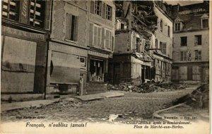 CPA AK COMPIEGNE apres le bombardement Place du Marché-aux-Herbes (864981)