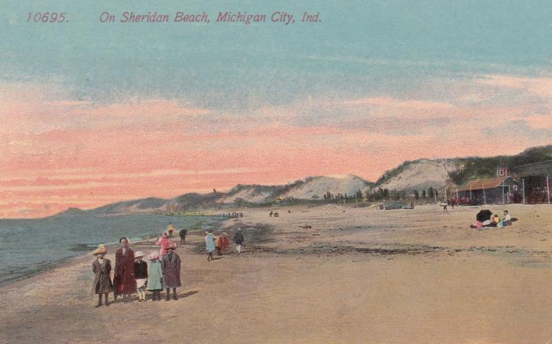 Michigan City Indiana 1900 1910s On Sheridan Beach