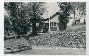 Cliffside Resort Lake Benoit Spooner Wisconsin 1957 RPPC Real Photo postcard