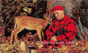 Old Vintage Hunting Postcard Post Card Sleepy Hunter Stains on back