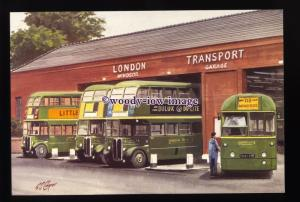 tm6629 - London Transport County Area Buses - Artist - G.S.Cooper - postcard