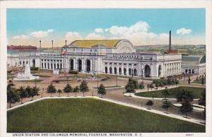 Union Station And Columbus Memorial Fountain Washington D C