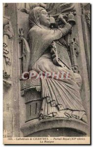 Old Postcard Cathedral of Chartres North Gate Music