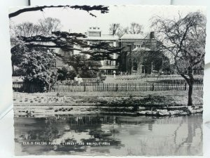 Vintage Friths Rp Postcard Ealing Public Library and Walpole Park Posted 1962
