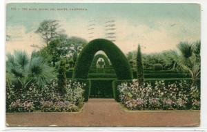 The Maze Hotel Del Monte California 1909 postcard