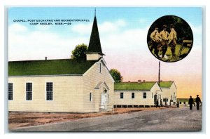 Postcard Chapel, Post Exchange & Recreation Hall, Camp Shelby MS T19