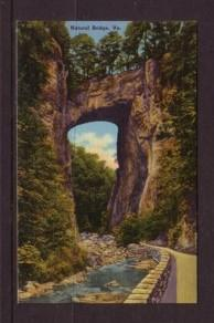 Virginia Post card Natural Bridge