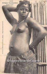Afrique Occidentale Jeune Agni African Nude Unused
