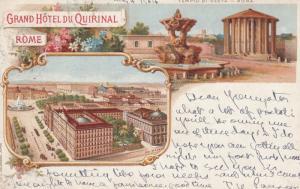 Rome , Italy , 1904 ; Grand Hotel Du Quirinal