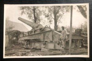 Mint Usa real Picture Postcard RPPC Machine Gun 240 MM Army WW2