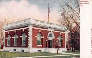 Post Office, Oak Park, Illinois, Early Postcard, Unused, Published by Hammon