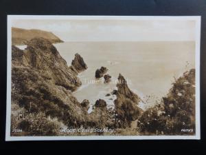 Devon: HOPE COVE Hope Coast Scenery nr Salcombe c1922 by Hope Cove Post Office