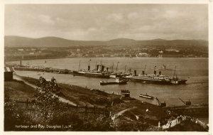 UK - Isle of Man, Douglas. Harbour and Bay.  *RPPC