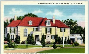 1940s Montgomery Alabama Postcard Commanding Officer's Quarters, MAXWELL FIELD